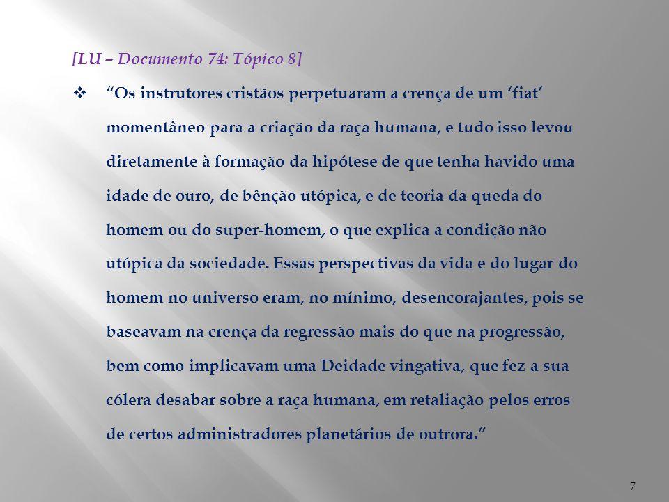 [LU – Documento 74: Tópico 8]